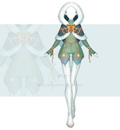 [Close] Adoptable Outfit Auction 278 by Kolmoys on DeviantArt Elf Clothes, Fairy Clothes, Anime Elf, Cute Animal Drawings Kawaii, Hero Costumes, Anime Dress, Dress Sketches, Fashion Design Drawings, Character Outfits