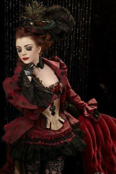 Gothic Steam, Neo victorian, Dark Steam, Dark Burlesque, by any name this is beautiful!