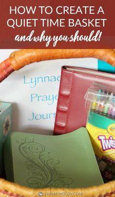 Do you have a quiet time basket? You should! via @Lynnae McCoy | Christian Women + Faith + Prayer + Blogging