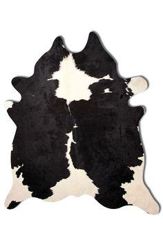 Kobe Cowhide Rug - Black/White