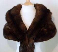 "My Style:  Vintage Russian ""Barguzin Sable"" fur stole.  Lovely."