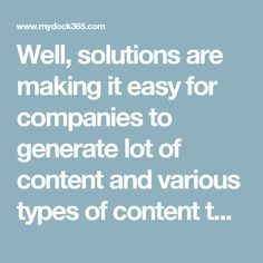 SharePoint Content Management  Well, solutions are making it easy for companies to generate lot of content and various types of content too. It's all about Knowledge Management and it's vital for industries such as Banking and Credit Union. Users need details and they follow different of ways for capturing information such as emails, documents, worksheets, presentations, videos, flowcharts, webpages etc.