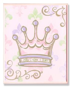 Pink Crown Wall Art from The Kids Room by Stupell on #zulily