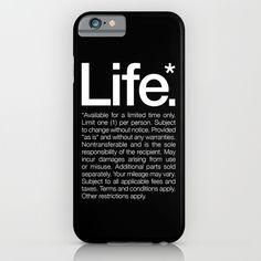 Life.* Available for a limited time only. iPhone & iPod Case by WORDS BRAND™ - $35.00
