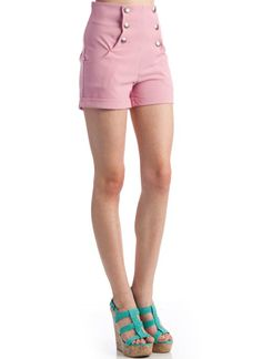 high waisted sailor shorts $24.20