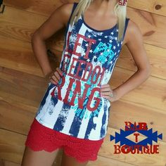 Let Freedom Ring Tank from Bar T Boutique