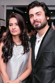 Fawad Khan with wife