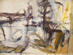Mary Abbott (b. 1921) Untitled, c. 1950 oil and charcoal on paper mounted to canvas 30 x 40 inches