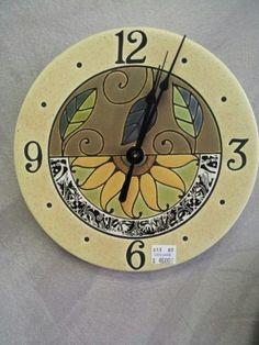 All Fired Up! ceramic clock.  Handmade in Canada