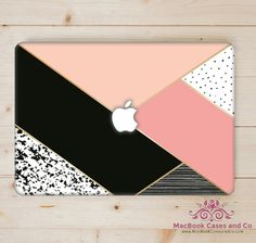 Top (printed) and Bottom (clear) Hard Plastic MacBook Case Coque Macbook, Macbook Skin, Macbook Case, Mac Laptop Case, Laptop Diy, Pink Laptop, Computer Cover, Laptop Covers, Mac Book