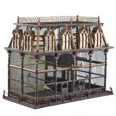 Victorian Painted Birdcage