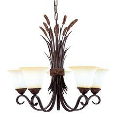 Portfolio 5-Light Bronze Chandelier