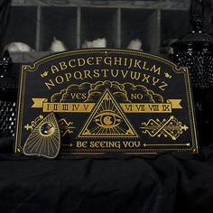 Illuminate Spirit Board Ouija Board Full Size by EnchantedRumors Wiccan, Magick, Witchcraft, Pagan, Spirited Art, Tarot Card Meanings, Witch Aesthetic, Palmistry, Black Magic