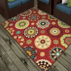 Salsalito Area Rug Available In Multiple Sizes And Colors, Red