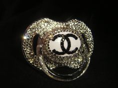 Blinky of the Month-Crystal Clear Chanel Diamond Rhinestone Pacifier. If I ever have a little girl she will need this""