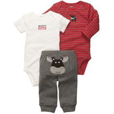 Carter's Moose Turn Me Around Bodysuit Set - Baby