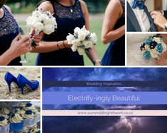 Blue Wedding Inspired by a Thunder Storm Thunderstorms, Blue Wedding, Wedding Blog, Wedding Inspiration, Weddings, Inspired, Beautiful, Bodas, Lightning Storms