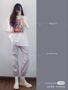Korean Outfit Street Styles, Korean Fashion Casual, Korean Girl Fashion, Korean Fashion Trends, Ulzzang Fashion, Korean Outfits, Trendy Fashion, Simple Outfits, Stylish Outfits