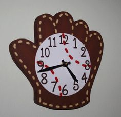 Baseball Glove and Ball Wooden WALL CLOCK for Boys Bedroom Baby Nursery * Read more at the image link. Baby Bedroom, Baby Boy Rooms, Baby Boy Nurseries, Nursery Boy, Bedroom Boys, Bedroom Ideas, Nursery Ideas, Bedroom Art, Baseball Wall