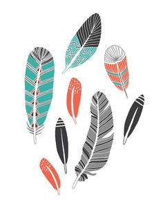 Feather Collection Art Print by courtneyoquist on Etsy, $18.00