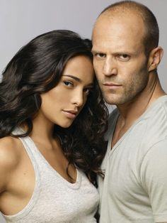 Natalie Martinez & Jason Stratham. DeathRace promo photo.
