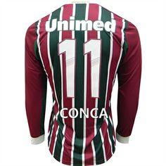 f9458065ea Camisa Fluminense M L I Conca 11 Adidas Tricolor - Personalize Patch CBF  Grátis