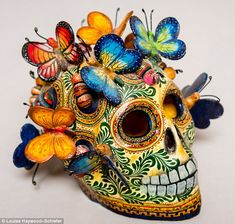 Skulls and butterflies have always featured in my work and they're something I collect, to. Day Of The Dead Artwork, Day Of The Dead Skull, Mexico Day Of The Dead, Roger Rabbit, Year 8, Memento Mori, Bob Dylan, Something Beautiful, Skulls