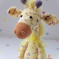 We are waving bye bye to little Speckles today, as he starts his travels to his new home  #fuzzpotlanedesigns #amigurumi #crochet #crochetersofinstagram #handmade #giraffe #animallover #cute #baby #etsy #blog #yellow
