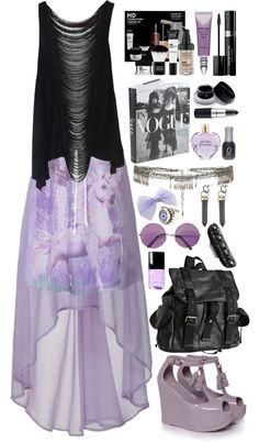 This is so nice! But personally i would change the skirt to a pastel purple skater skirt with suspenders