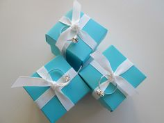 roommom27: Breakfast at Tiffany Little Boxes filled with Hershey's Kisses