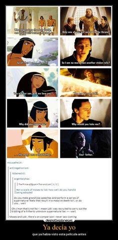 El Descanso del Escriba: Loki...es como Moises??