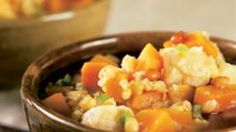 Butternut Stew with Tofu, Corn and Pine Nuts