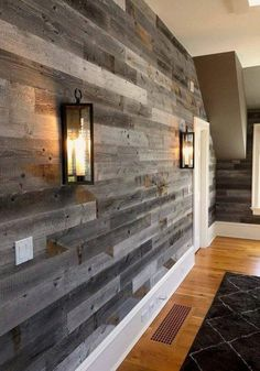 Gray Reclaimed Barn Wood Wall Panel- Sq Ft, Reclaimed Barn Wood) : Gray Reclaimed Barn Wood Wall Panel- Easy Peel and Stick Application Sq Ft, Reclaimed Barn Wood) Plank Walls, Wood Panel Walls, Wood Paneling, Wood Accent Walls, Basement Wall Panels, Accent Wall In Kitchen, Wood On Walls, Laminate Wall Panels, Flooring On Walls