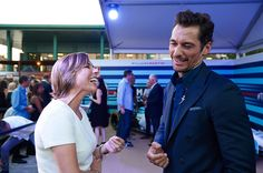MILAN, ITALY - SEPTEMBER 01: Male supermodel and car enthusiast David Gandy attends the VIP opening of Terrazza Martini Darsena on September 1, 2016 in Milan, Italy.