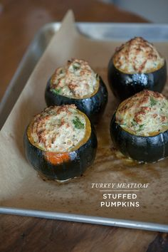 a cozy winter meal...turkey meatloaf stuffed pumpkins... - Oh Joy!