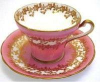 Teacup & saucer in pretty mauve color