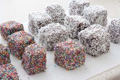 Lamingtons and Sprinkletons from Cath's Cookery Creations! @Cath's Cookery Creations!