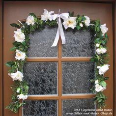 Türgirlande Hochzeit Kommunion Taufe Just Married, Hanukkah, Ladder Decor, Wreaths, Advent, Stage, Christian, Pink, Baby