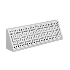 allen + roth 15-in White Steel Wicker Baseboard Register