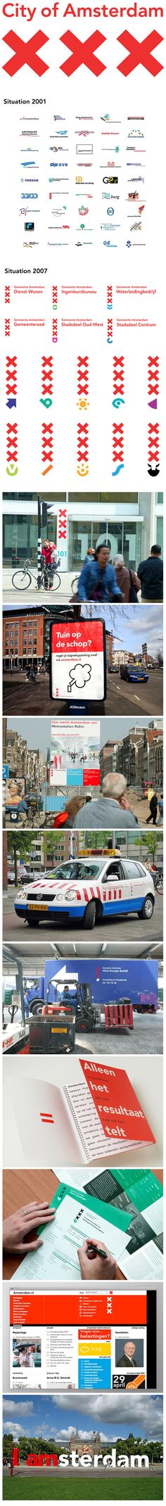 City of Amsterdam Identity / Edenspiekermann with Thonik design bureau. The Amsterdam style was awarded the Dutch House Style Award in 2003.