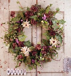 Old Fashion Garden Silk Wreath