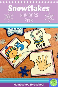 These Snowflake Number Lessons are the perfect addition for Math Centers for homeschool/ preschool. This time saving, leveled resource is engaging with its vibrant pictures and stimulating content! Your multi-aged 4-6 year old children will enjoy learning about the Snowflake and numbers with these interactive lessons. Numbers Preschool, Preschool Math, Kindergarten, Preschool Winter, Morning Activities, Number Activities, Dramatic Play, Elementary Math, Literacy Centers