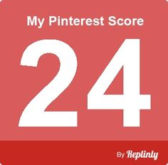 My Pinterest Score is 24/100  8(     - click the image to calculate your pinterest score