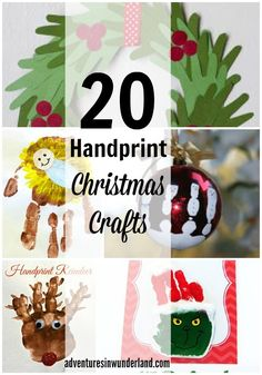 fun kids art and great gift idea for the holiday season - make fun hand print christmas crafts with your little ones!