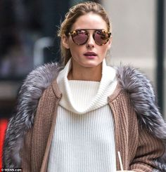 Fashion forward: The stunner wore Westward Leaning rose gold sunglasses, which she designe...