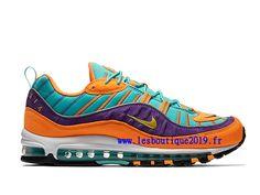 newest 036d4 7d326 Nike Air Max 98 Hyper Grape Orange Vert Chaussure de BasketBall Pas Cher  Pour Homme 924462-800 - 1807160137 - Retrouvez la marque Nike en ligne sur  ...