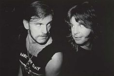 Lemmy Kilmister and Ozzy Osbourne | Rare and beautiful celebrity photos