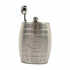 4oz Jack Daniels Barrel Flask