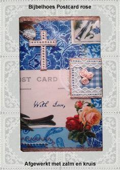 Bijbelhoezen : Bijbelhoes Postcard rose vanaf € 4,-