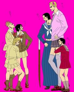 Whitebeard Pirates -vs- Shickibukai - High School girl edition!